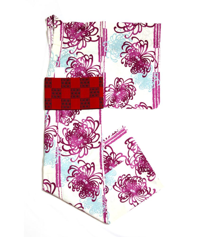 【浴衣】紫乱菊AZAYAKA☆しっとり綺麗になりたい方に!赤帯