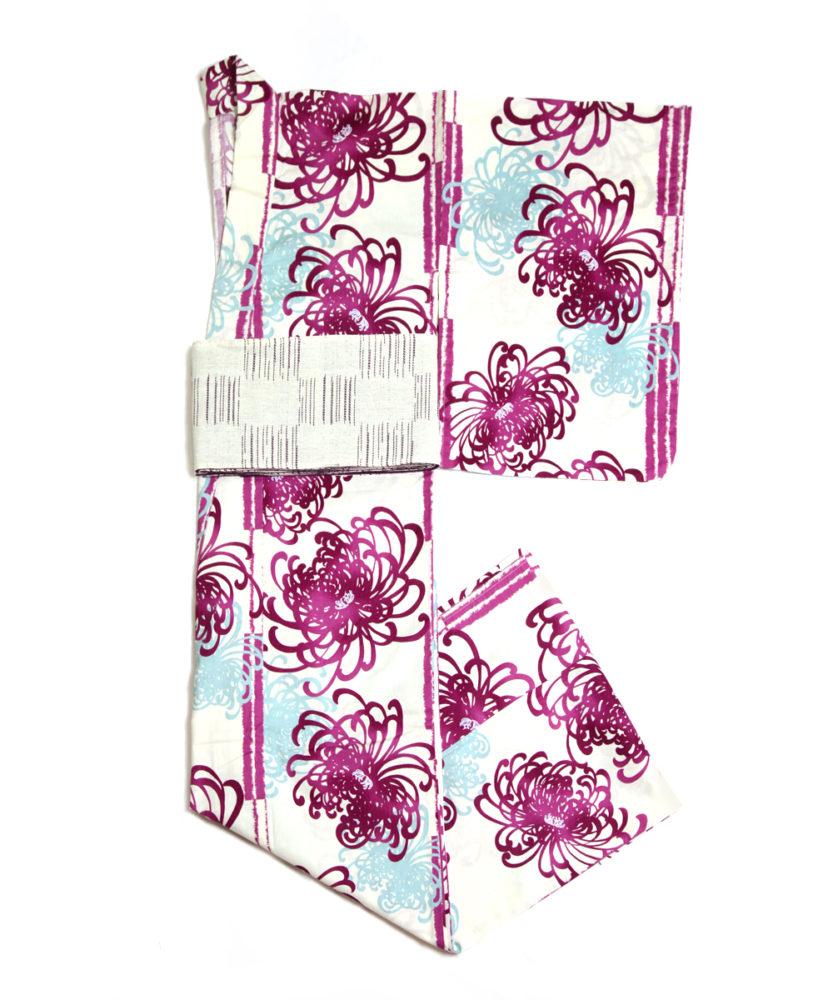 【浴衣】紫乱菊AZAYAKA☆しっとり綺麗になりたい方に!白帯